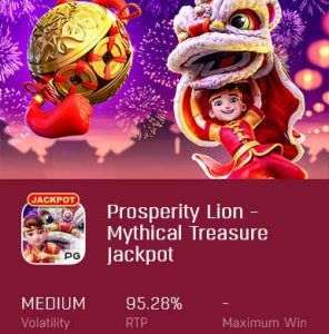 prosperity lion mythical treasure jackpot